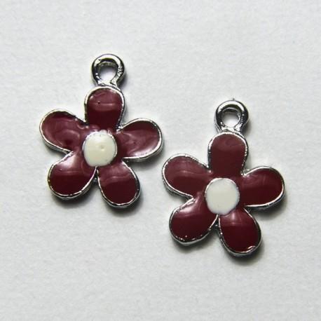 """Fiore """"Bianco/Rosso"""" 17mm"""