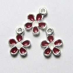 """Fiore """"Bianco/Rosso"""" 11mm"""
