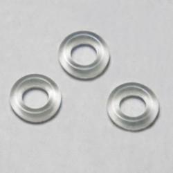 Fermaperline in gomma trasparente
