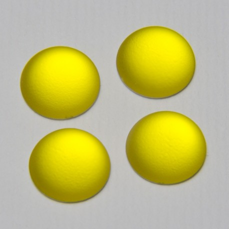 Cabochon Softtouch Giallo 12mm