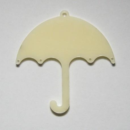 Ombrello pendente in plex Avorio
