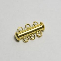 Chiusura in ottone 3 fili colore oro