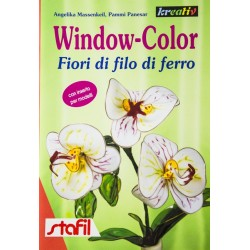 Window Color Fiori di fil di ferro