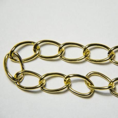 Groumette alluminio 16mm dorata