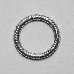 Anello tondo zigrinato 11.5mm