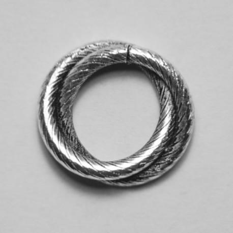 Anello doppio tondo zigrinato 11.5mm