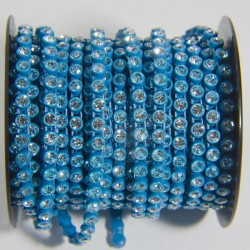 "Catena con Strass ""Acquamarina"""