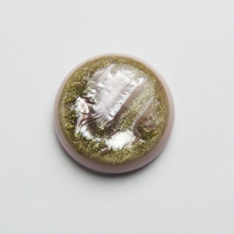 Cabochon sintetico tondo 30mm Rosa