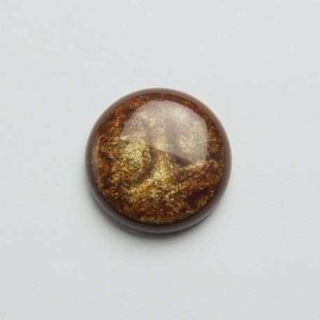 Cabochon sintetico tondo 30mm Marrone