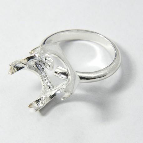 Castone anello quadrato Ag 925