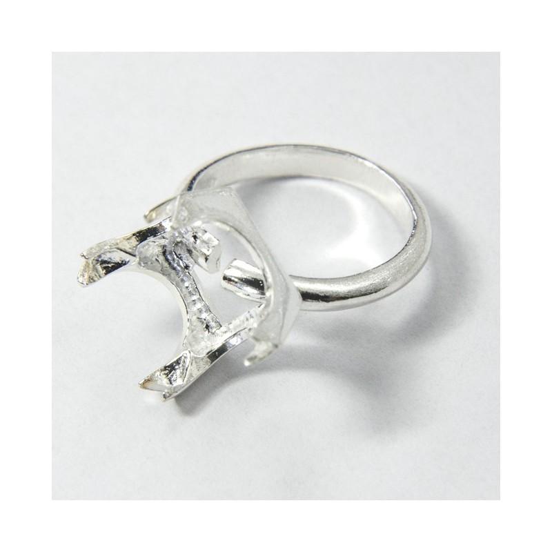 foto ufficiali economico in vendita prezzo accessibile Castone anello quadrato Ag 925
