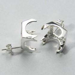 Castone orecchino quadrato Ag 925