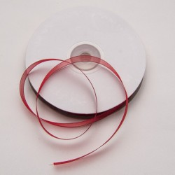 Nastro Organza Rosso 10mm
