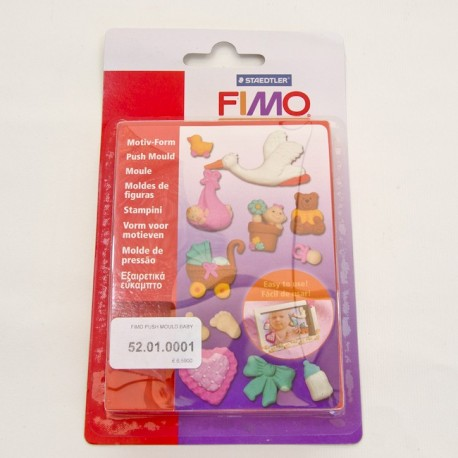 Fimo push mould baby