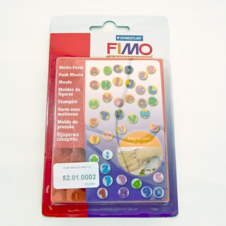 Fimo push mould ABC/123