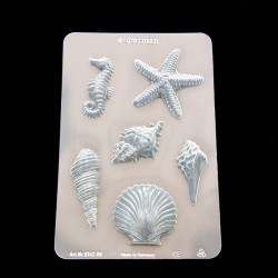 Clay mould Sea Shell's