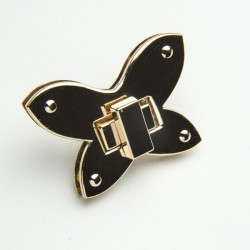Chiusura Farfalla colore oro