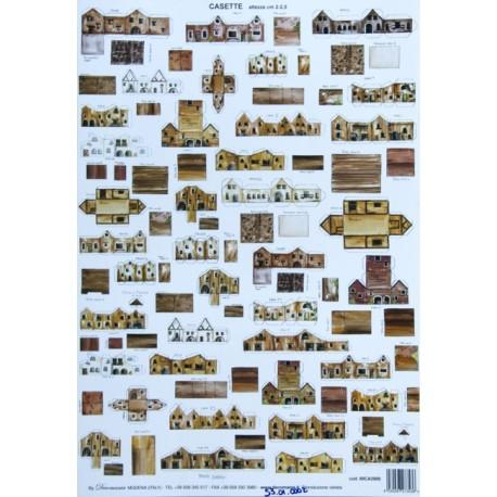 """Cartoncino """"Casette"""" effetto legno"""