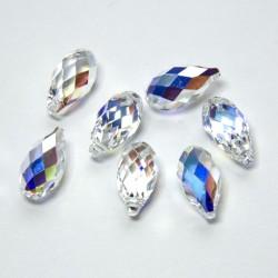 "Briolette Pendant ""Crystal"" 11mm AB"