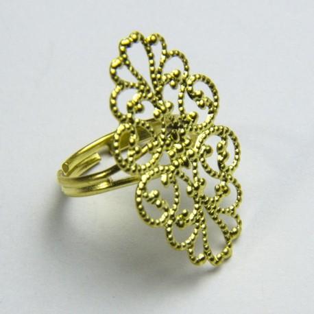 Anello ottone ovale filigrana