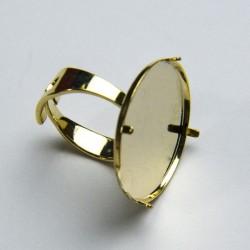 Castone anello 24mm dorato