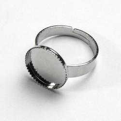 Castone anello 14mm zigrinato
