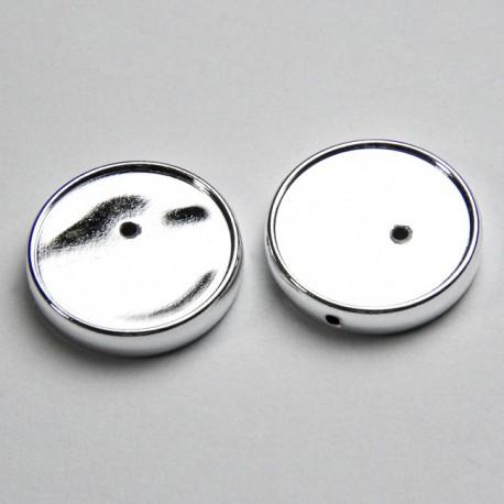 Portacabochon 20mm colore argento