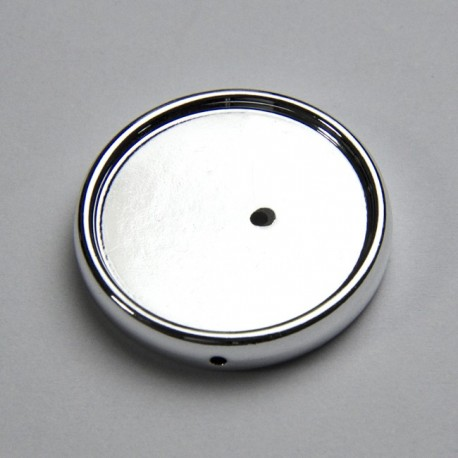 Portacabochon 28mm colore argento