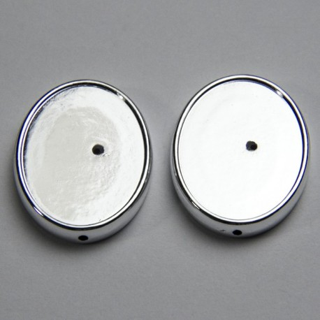 Portacabochon ovale 28x12mm