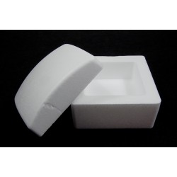 Scatola quadrata di polistirolo