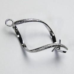 Gabbietta pendente porta perle, diamantato