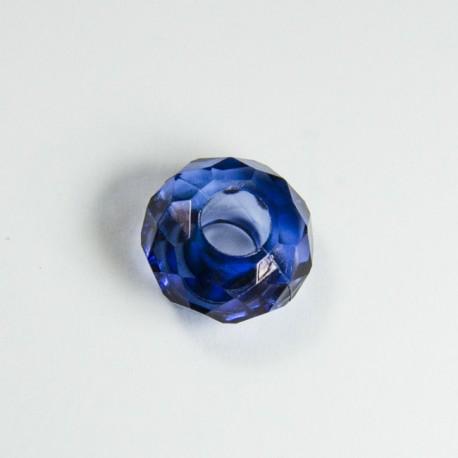 Briolette acrilica blu
