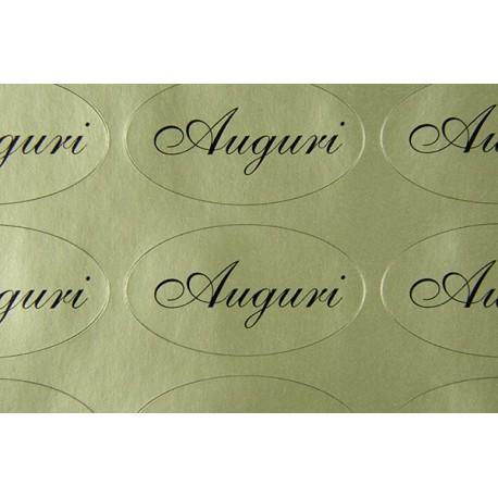 """Etichette adesive dorate """"Auguri"""""""