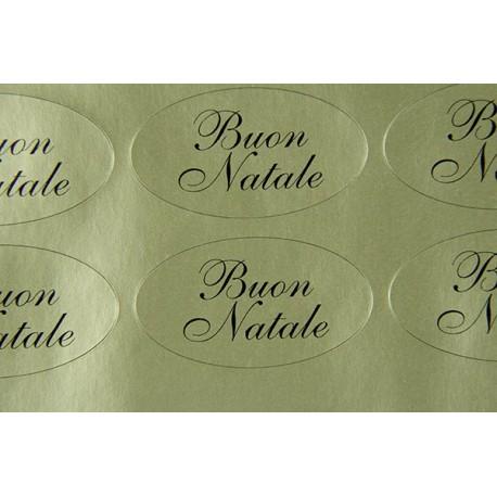 """Etichette adesive dorate """"Buon Natale"""""""