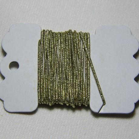 Cordoncino elastico Oro 1mm