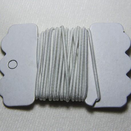 Cordoncino elastico Bianco 1mm
