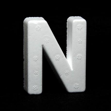 """Lettera """"N"""" di polistirolo"""