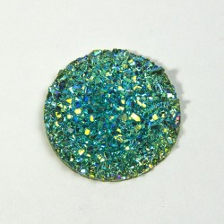 Cabochon tondo 25mm Acqua AB