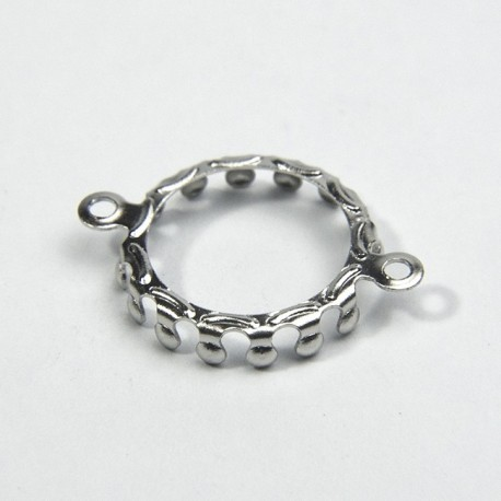 Castone 2 anelli ottone 10mm