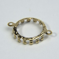 Castone 2 anelli ottone 14mm