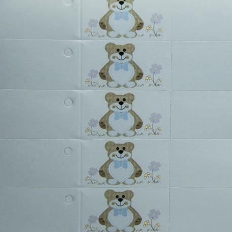 "Bigliettino ""Teddy Bear"" Celeste"