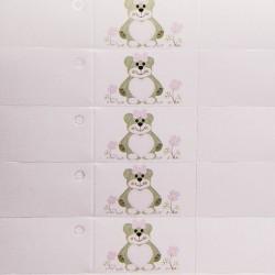 "Bigliettino ""Teddy Bear"" Rosa"