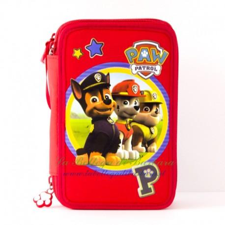 Astuccio completo Paw Patrol rosso
