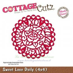 Fustella Cottage Cutz Sweet Love Doily