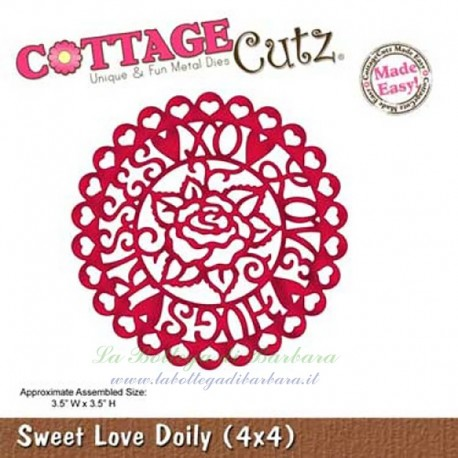 Fustella Cottage Cutz Sweet Love Doily