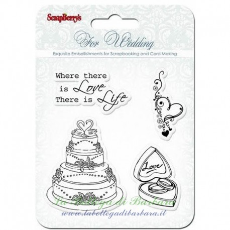 "Set Clear Stamp ""Wedding"" 10.5x10.5"