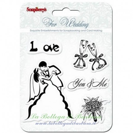 """Set Clear Stamp """"Wedding You&Me"""" 10.5x10.5"""