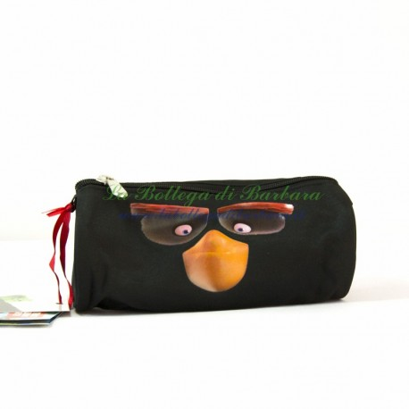 Astuccio Tombolino Angry Birds Nero