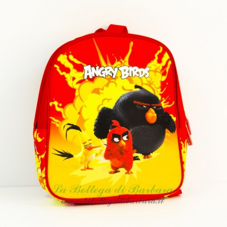 Zaino asilo Angry Birds Rosso