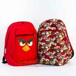 Zaino Reversibile Rosso/Fantasia Angry Birds